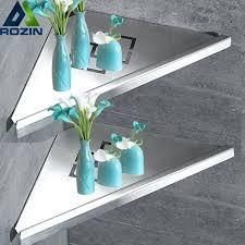 bathroom kitchen storage shelf wall mounted stainless steel shower rack brushed nickel black commodity holder in