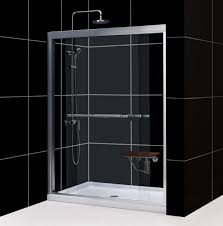 dreamline duet 56 to 60 frameless bypass sliding shower door clear 5 16