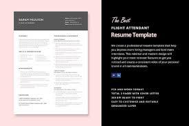 Flight Attendant Resume Templates Adorable Flight Attendant Resume Template Resume Templates Creative Market