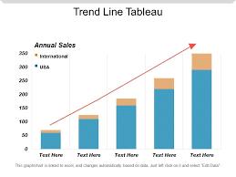 Trend Line Tableau Powerpoint Slide Presentation