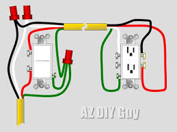 wiring a split, switched receptacle az diy guy How To Wire A Receptacle With 3 Wires split receptacle with 3 wire ground cable how to wire a receptacle with three wires