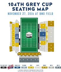 Bmo Field Detailed Seating Chart Argos Unveil New Ticket Prices For 104th Grey Cup Presented