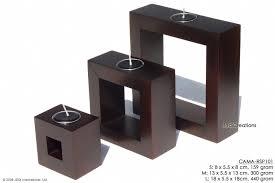 cama rsp101 hi tech whole rectangular frame mango wood candle holders northern thailand