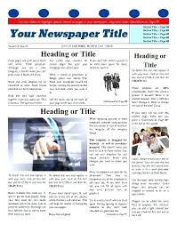 Microsoft Word Newspaper Template Free Newspaper Template Elisabethnewton Com