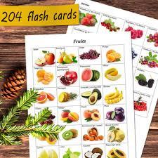 Food Flash Cards 204 Vocabulary Flash Cards Bundle Food Flashcards Fruit