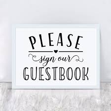 Wedding Sign Decal Stickers Please Sign Our Guest Book Vinyl Wall