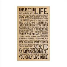 This Is Your Life Quote Simple HOT World Popular Quote This Is Your Life Vintage Painting