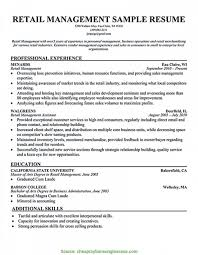 Retail Store Manager Job Description For Resume Best of Sample Retail Manager Resume Fresh Unusual Retail Store Manager