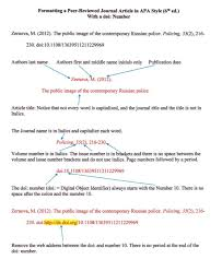 Formatting A Peer Reviewed Journal Article In Apa Style 6th Ed