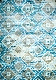 blue rug contemporary area rugs print aztec outdoor natural vintage