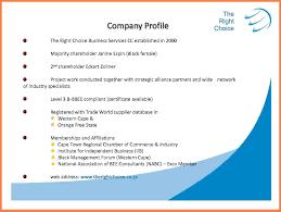 5 Sample Company Profile Pdf Company Letterhead