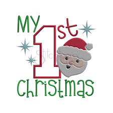 First Christmas Applique Design My First Christmas Applique Design
