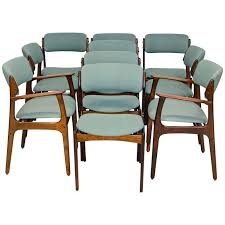 set of ten danish rosewood dining chairs by erik buck from a unique collection