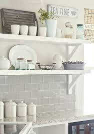 kitchen backsplash grey subway tile. View In Gallery The Subway Tile Backsplash Looks Great Combined With The  Rustic Island Kitchen Grey S