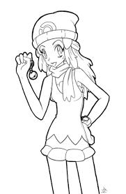 Pokemon Dawn Coloring Pages Hikari Tricksypixel On Deviantart