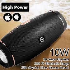 Âm lượng lớn hơn 114W Loa Bluetooth 5.0 không dây Loa di động ngoài trời Loa  không thấm nước