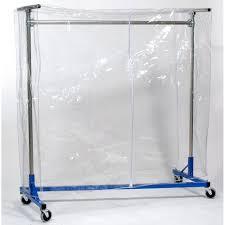 clear vinyl cover w zipper for 4ft garment rack