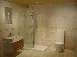 bathroom: Small Area Of Shower Room At Modern Bathroom Decorated With Mosaic  Tile Bathroom And