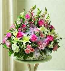 Basket Flower Decoration White Flower Baskets Flowers Ideas