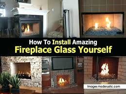 fireplace glass regular gas fireplaces are a little boring with their fake logs but have you what to use clean fireplace glass cleaning gas how