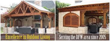 timber craft patio covers pavillions pergolas arbors outdoor kitchens and concrete rockwall rowlett farmersville mckinney royce city