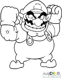 Mario Coloring Pages To Print Math Worksheets Multiplication