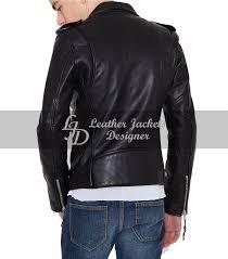 Discount Designer Mens Leather Jackets Mens Leather With Shoulder Epaulets Biker Style Leather Jacket