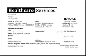 Healthcare Service Invoice Template Excel Invoice Templates