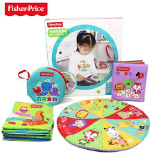 fisher f0811 4pcs set stereoscopic small baby cloth book early education 6 12