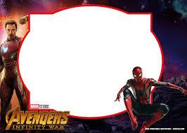 Spiderman Birthday Invitation Templates Free Free Printable Avengers Infinity Wars Spiderman Birthday