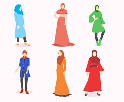 hijab fashion vector