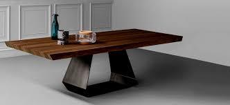 Esstisch Holz Glas Metall Moderner Amond By Gino Carollo 11244