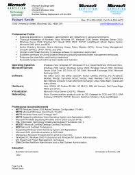 Sample Resume System Administrator Windows New Lovely Iis Systems