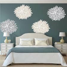 bedroom flower wall mural decals