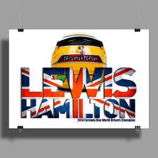 Lewis Hamilton - British Flag Union Jack Wall Art (Landscape) | Car  Throttle Shop