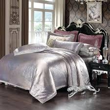 velvet comforter set velvet jacquard satin bedding sets silk duvet cover bed sheet sets luxury noble velvet comforter set