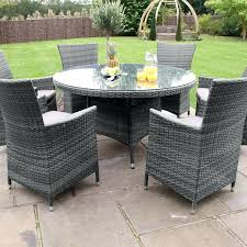 rattan garden table set maze rattan garden furniture baby la grey 6 round table set 9 rattan garden table