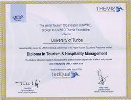 university получают международно признанный сертификат аккредитации Всемирной организации туризма ООН tedqual