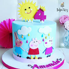 10 Girl Birthday Cakes Pigs Photo Pig Birthday Cake Pig Birthday