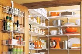A well-lighted pantry. Dark recesses make things hard to see. Every shelf  in a pantry should be bathed in soft, shadowless light with minimum glare.