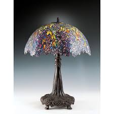 quoizel falling leaves tiffany table lamp hover to zoom
