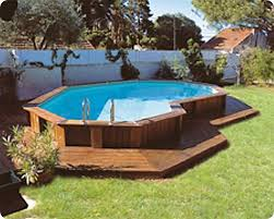 Image Paint Semi Buried Pool With Composite Deck Aesthetics Houses 15 Awesome Above Ground Pool Deck Designs