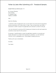 Follow Up Letter After Resume Submission 23 Lovely Follow Up Email
