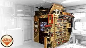 french cleat storage wall loft