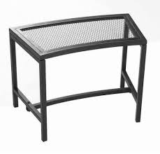 patio stool: four fire pit benches seat black mesh patio stool metal chair outdoor furniture whats it worth