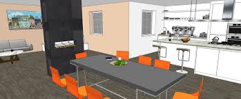 Interior In Kitchen Sketchup For Kitchen Bath Interior Design Sketchup