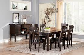 rectangle kitchen table set. Signature Design By Ashley Haddigan Rectangular Dining Room Table W/ Butterfly Leaf | Wayside Furniture Kitchen Rectangle Set