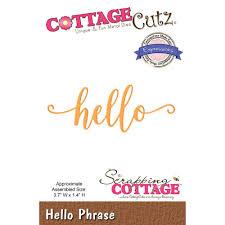 Cottage Cutz - Die - Hello