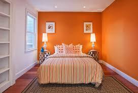 orange bedroom colors. Interesting Orange Orange Bedroom Color Ideas With Stripe Patterned Beddig Stunning  Nighstands Table Lamps And In Orange Bedroom Colors