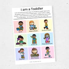 Activity Chart Kids I Am A Toddler Activity Idea Chart For Kids This Mom Life